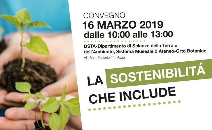 """Convegno """"La sostenibilità che include"""" – 16/03"""