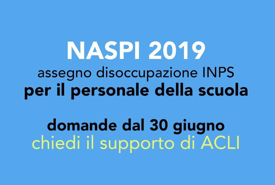 NASPI 2019 – dal 30 giugno al via le domande