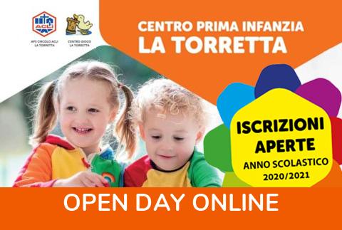 Open day online – Centro prima infanzia La Torretta