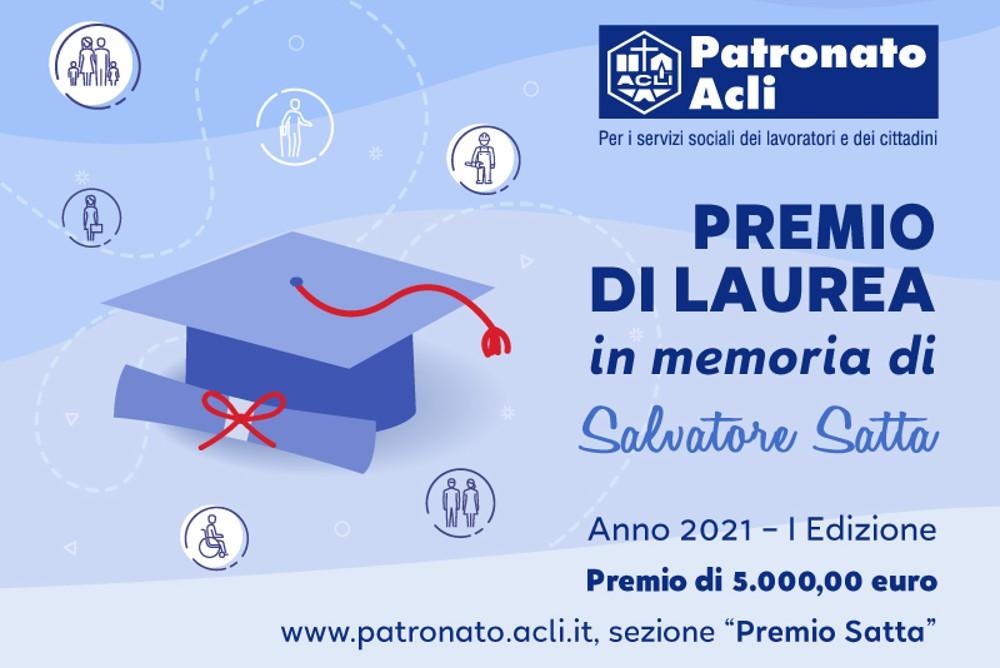 Previdenza: Patronato Acli, c'è tempo fino al 31 dicembre per partecipare alla prima edizione del Premio Satta